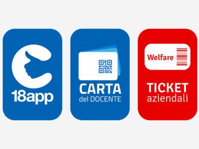 Bonus cultura 18app, Carta docente e Voucher di Welfare aziendale